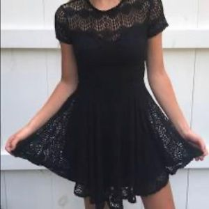 Kendall and Kylie Black Lace Dress